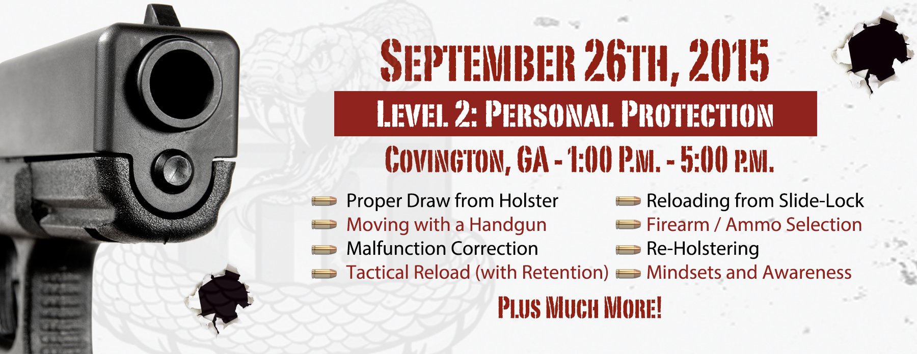 Level 2: Personal Protection with a Handgun